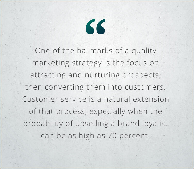 Customer Service as Marketing Strategy quote